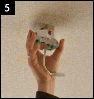 シーリングライトを違う照明に取り替える 手順5